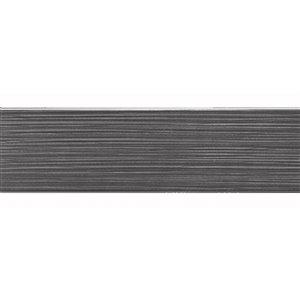 Tuile céramique Mono Serra 4 po x 16 po  Bulevar Gris 11.11 pi2 / boite (25mcx / boite)