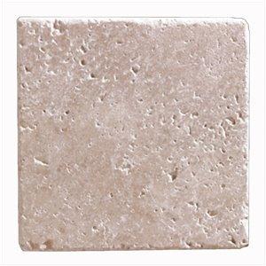 Mono Serra Tumbled Marble 6'' x 6'' Travertino Noce 5 sq. ft / case (20 pcs / case)