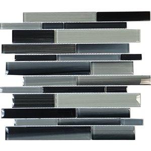 Mono Serra Glass Mosaic 12'' x 12'' Skyline Marino 5 sq.ft. / case (5 pcs / case)