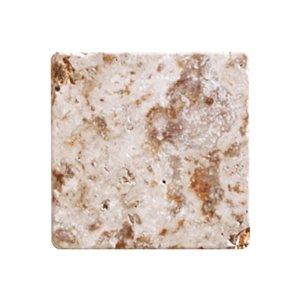 Marbre baratté  Mono Serra 4 po x 4 po Travertino Scabas 5.50 pi2 (50 mcx / boite)