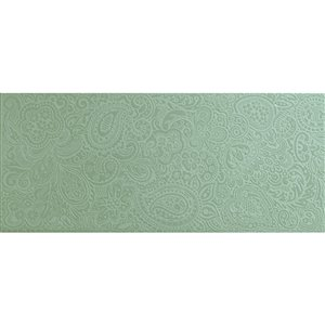 Mono Serra Ceramic Tile 8-in x 20-in Cachemira Turquesa 10.76 sq.ft. / case (10 pcs / case)