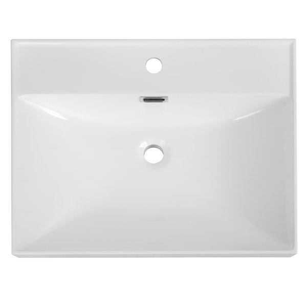 Streamline Vanity Top with Integrated Single Sink - 23.6-in x 18.5-in - White