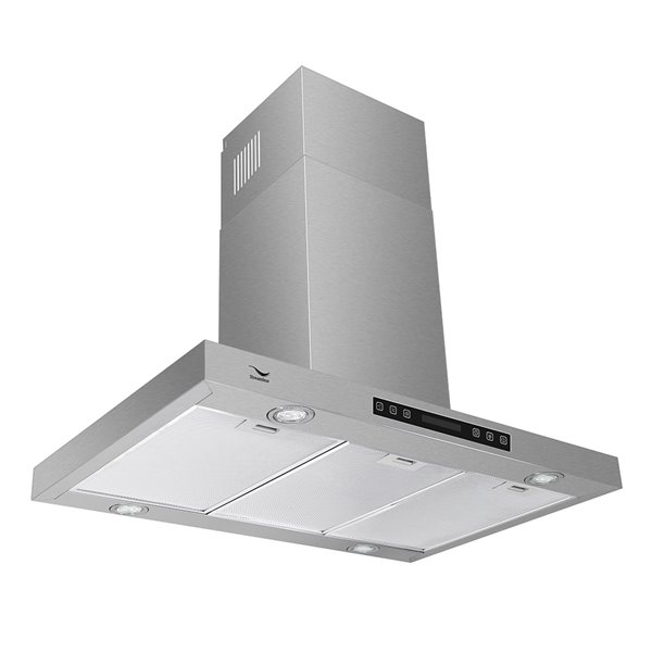 Streamline Convertible Wall Mount Kitchen Range Hood 480 Cfm 29 5 In X 22 5 In Stainless Steel Rona