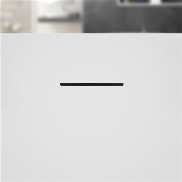 Baignoire ovale en acrylique autoportante de Streamline, drain centré interne, 28 po x 59 po, blanc lustré