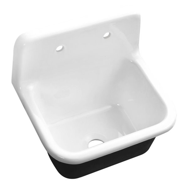 Streamline Wall Mount Kitchen Sink 22 In White Cast Iron Rona