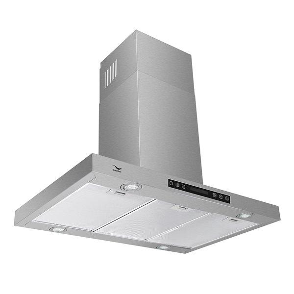 Streamline Convertible Island Kitchen Range Hood - 480 CFM - 35.4-in - Stainless Steel