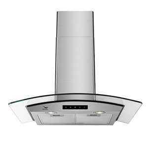 Streamline Convertible Wall-Mount Kitchen Range Hood - 480 CFM - 29.5-in x 21.2-in - Stainless Steel