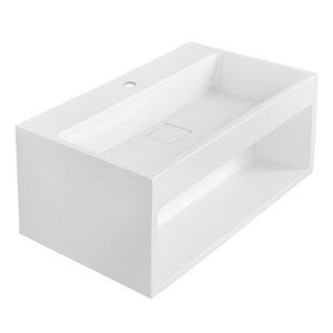 Streamline Bathroom Sink with Integrated Vanity - 25.6-in x 15.7-in - White