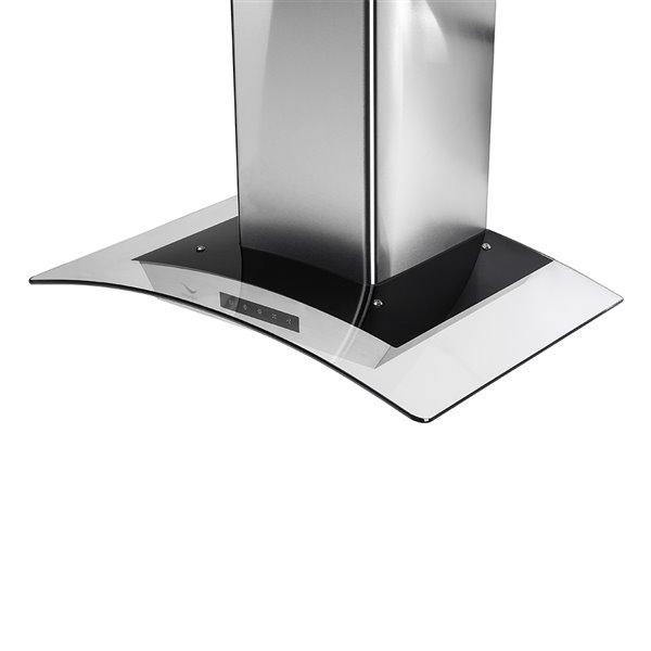 Streamline Convertible Wall-Mount Kitchen Range Hood - 480 CFM - 29.5-in - Stainless Steel