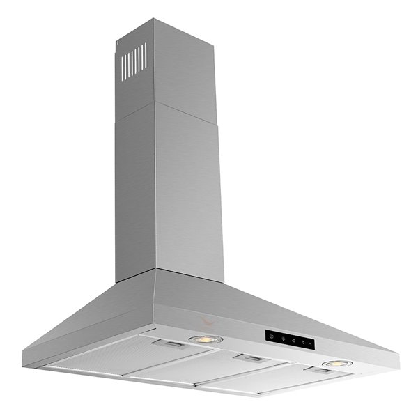 Streamline Convertible Wall-Mount Kitchen Range Hood - 480 CFM - 35.4-in x 27.5-in - Stainless Steel