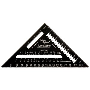 Johnson Level Square Professional Easy-Read Rafter Square - Aluminum - 7-in