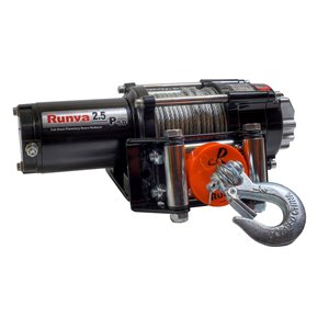 Treuil électrique avec câble en acier de Runva, 12 V, 2 500 lb, moteur de 2,6 hp