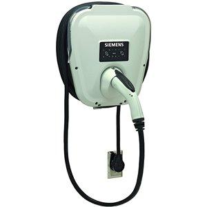 Chargeur pour voiture électrique avec connexion Wi-Fi VersiCharge SG de Siemens, 30 A