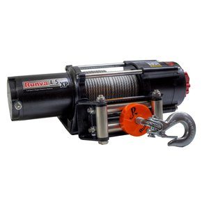 Treuil électrique tout-terrain de Runva. 12 V, 4 500 lb, moteur de 3,6 hp