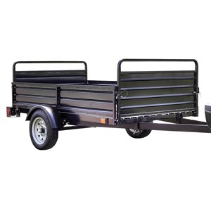 DK2 Multi-Utility Trailer - Single Axle - 5-ft x 7-ft - Black
