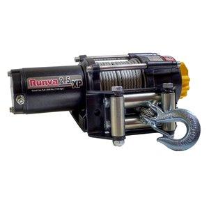 Treuil électrique avec câble en acier de 46 pi de Runva, 12 V, 2 500 lb, moteur de 2,6 hp