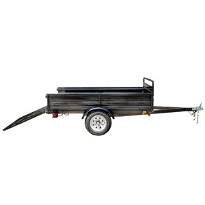 DK2 Multi-Purpose Utility Trailer Kit with Drive-Up Gate - 5-ft x 7-ft - Black