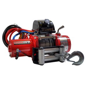 Treuil électrique de récupération et remorquage de Runva, 12 V, 9 500 lb, moteur de 5,8 hp