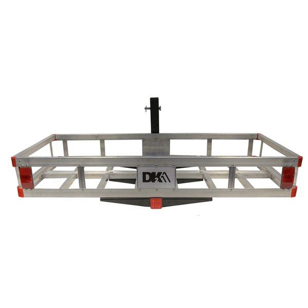DK2Hitch Mounted Cargo Carrier - Aluminum