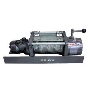 Treuil hydraulique de remorquage de Runva, 10 000 lb, câble en acier
