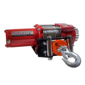 Treuil électrique pour remorquage de Runva, 12 V, 3 500 lb, moteur de 3,2 hp