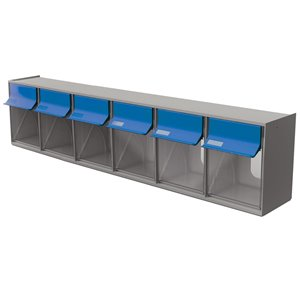 Ideal Security Tilt Bin G2 - 6 Bins - Grey/Blue