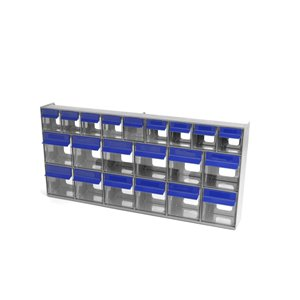 Ideal Security Tilt Bin Multistore 669 Set - 21 Bins -Grey/Blue