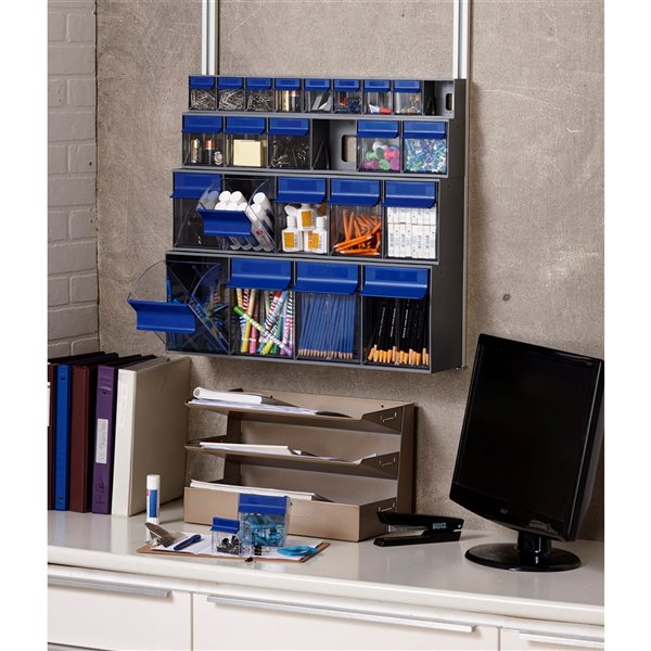 Ideal Security Tilt Bin G2 - 5 bins - Grey/Blue