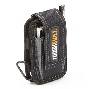 TOUGHBUILT Smart Phone Pouch with Notebook - Polyester - Black