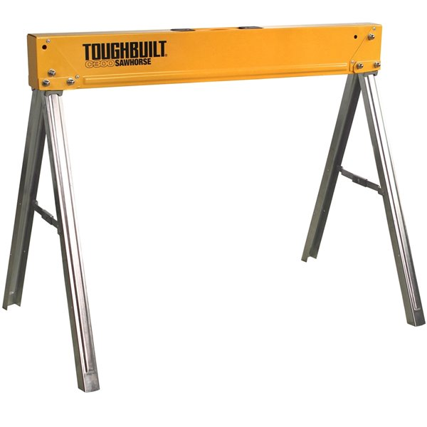 TOUGHBUILT C300 Sawhorse - Steel - 28.55-in x 36.82-in - 1100 lb - Gray