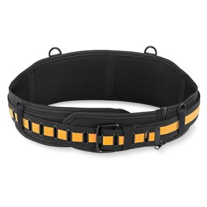 TOUGHBUILT Padded Belt: Back Support/Steel Buckle - 32-in to 48-in - Black