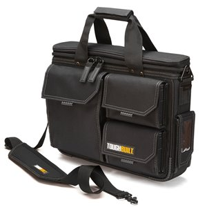 TOUGHBUILT Quick Access Laptop Bag and Shoulder Strap - Medium - Black