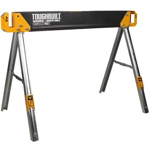 TOUGHBUILT C500 Sawhorse - Steel - 28.55-in x 41.54-in - 1100 lb - Black