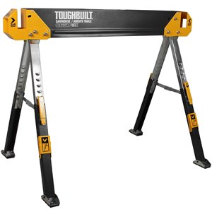 TOUGHBUILT C650 Sawhorse - Steel - 32.09-in x 42.4-in - 1300 lb - Black
