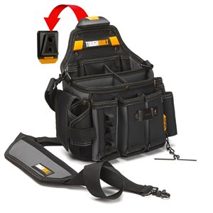 TOUGHBUILT Master Electrician Pouch and Shoulder Strap - Black