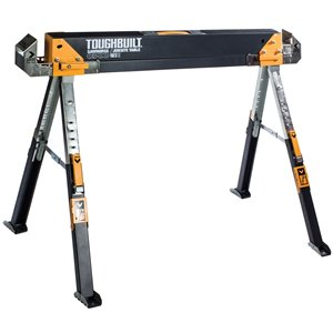 TOUGHBUILT C700 Sawhorse - Steel - 32.09-in x 45.87-in - 1300 lb - Black