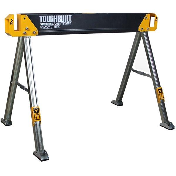 Chevalet TOUGHBUILT C550, acier, 28,82 po x 41,54 po, 1100 lb, noir