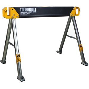 TOUGHBUILT C550 Sawhorse - Steel - 28.82-in x 41.54-in - 1100 lb - Black