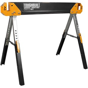 TOUGHBUILT C600 Sawhorse - Steel - 24.70-in x 42.4-in - 1300 lb - Black