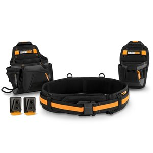 TOUGHBUILT Handyman Tool Belt Set - 3-Piece - 32-in to 48-in - Black