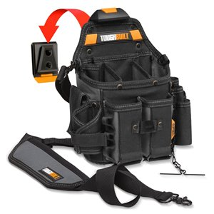 TOUGHBUILT Journeyman Electrician Pouch and Shoulder Strap - Black
