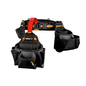 TOUGHBUILT Contractor Tool Belt Set - 4-Piece - 32-in to 48-in - Black