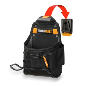 TOUGHBUILT Project Pouch and Hammer Loop - Black
