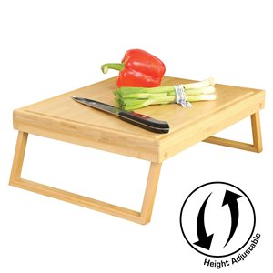 Chop Wellness ELEVATE Height Adjustable Cutting Board and Prep Station - Natural Bamboo