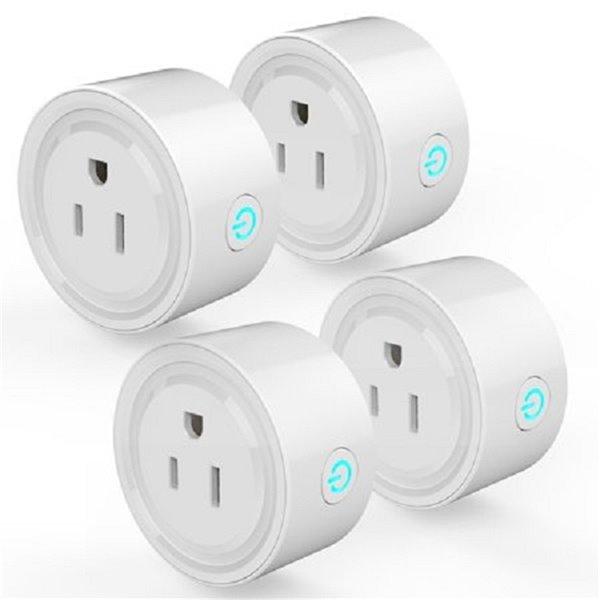 Prise de courant intelligente Wi-Fi de Wexstar, blanc, 4 pièces