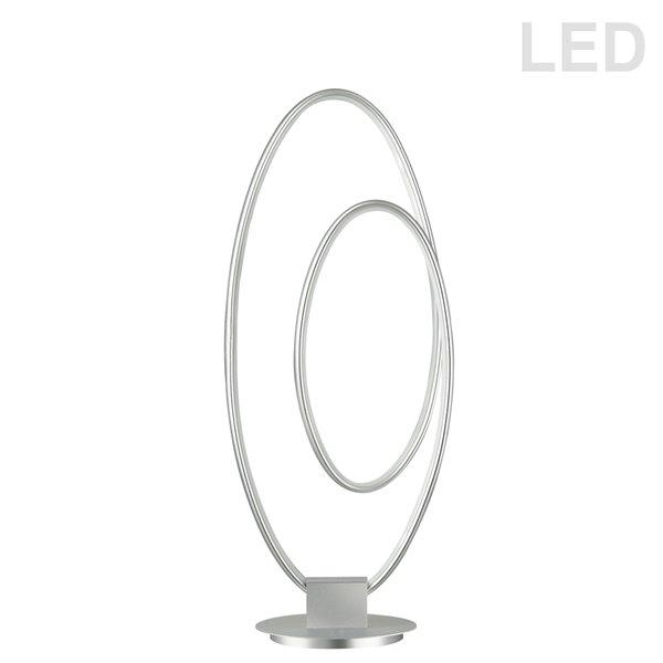 Dainolite Phoenix Table Lamp - 1-Light - 21-in - Silver