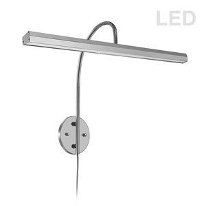Lampe pour tableau Display Exhibit de Dainolite, 30 Watts, 24,13 po, chrome satiné
