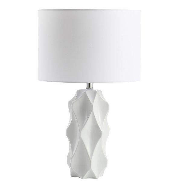 Lampe de table Signature de Dainolite, 1 lumière, 24,5 po, blanc mat