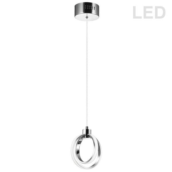 Luminaire suspendu à 2 lumières Signature de Dainolite, 6,25 po x 7,5 po, chrome poli