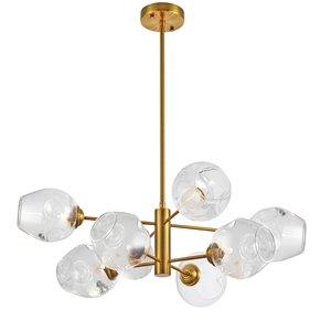 Luminaire suspendu à 8 lumières Abii de Dainolite, 26 po x 8 po, bronze vintage